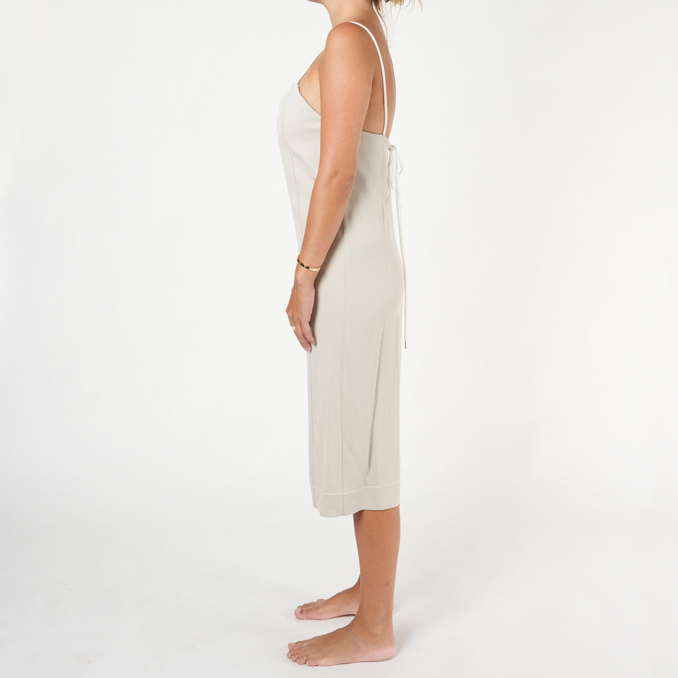 Viscose Twill Drawstring Dress