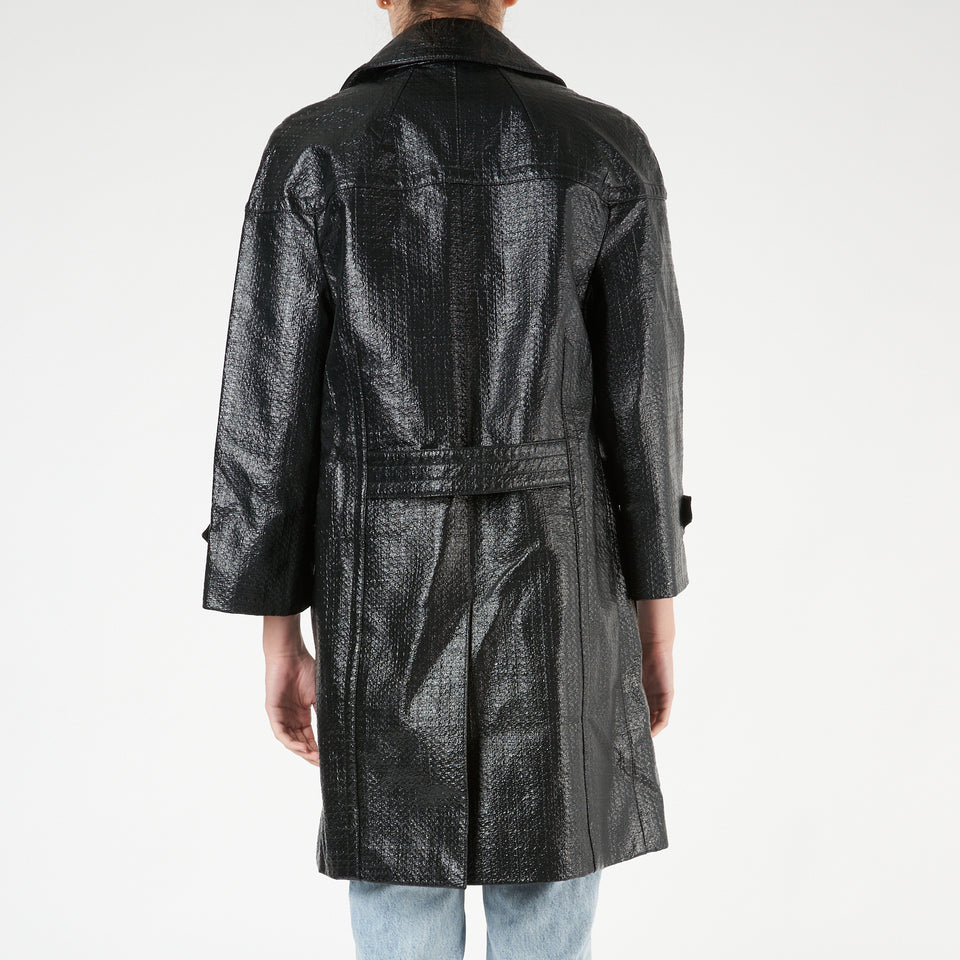 Textured Metallic Coat
