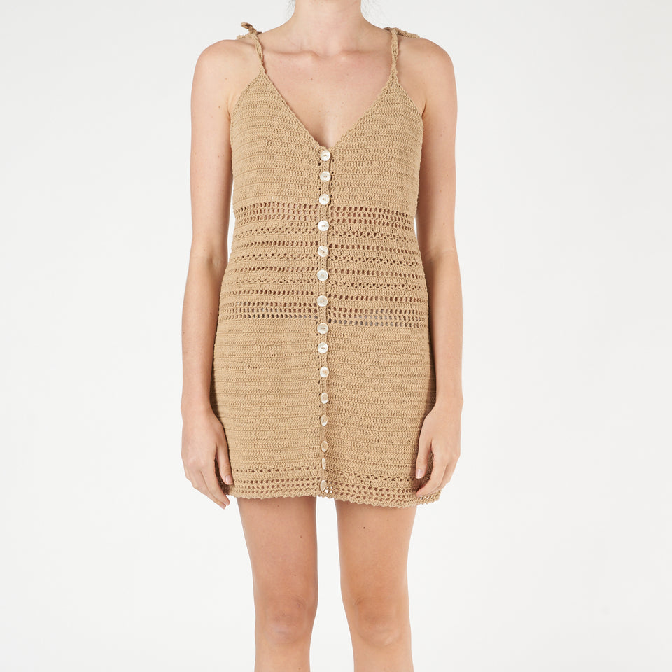 Sita Crochet Mini Dress