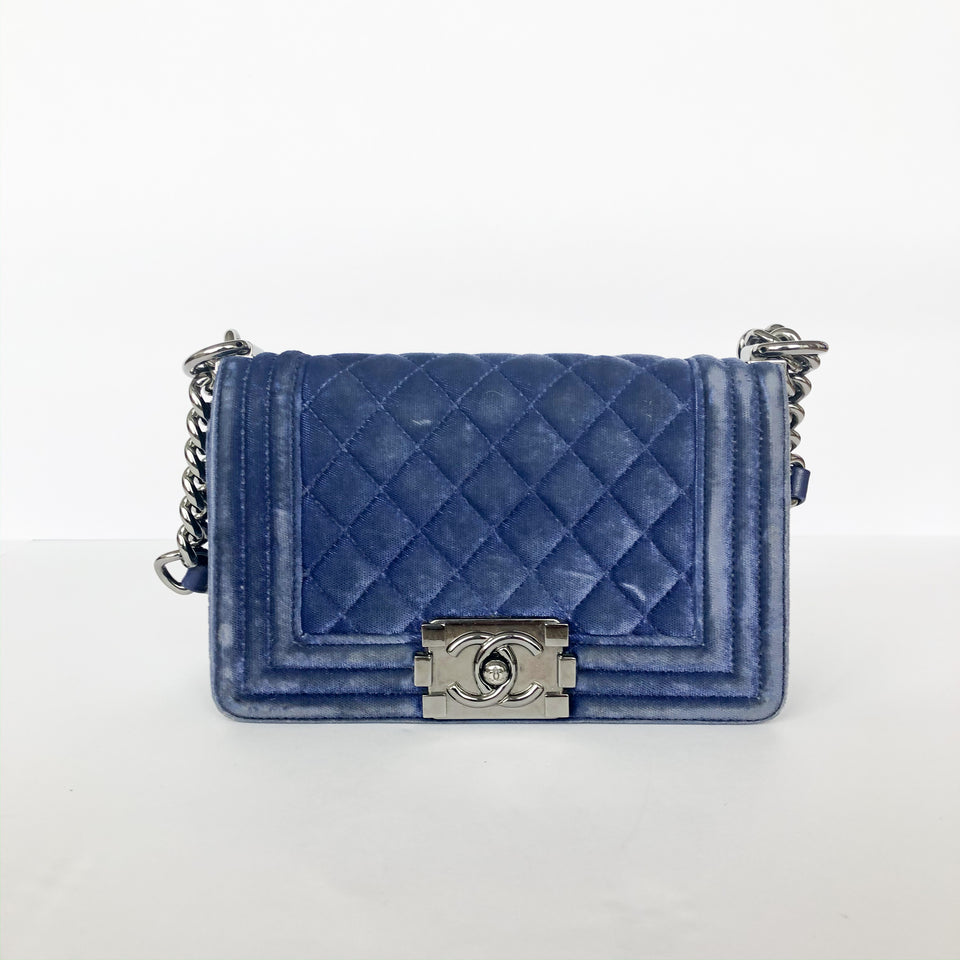 Chanel Boy Flap Quilted Velvet Mini