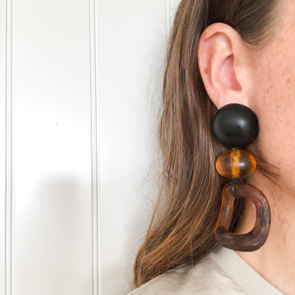 Leona Earrings in Tortoise