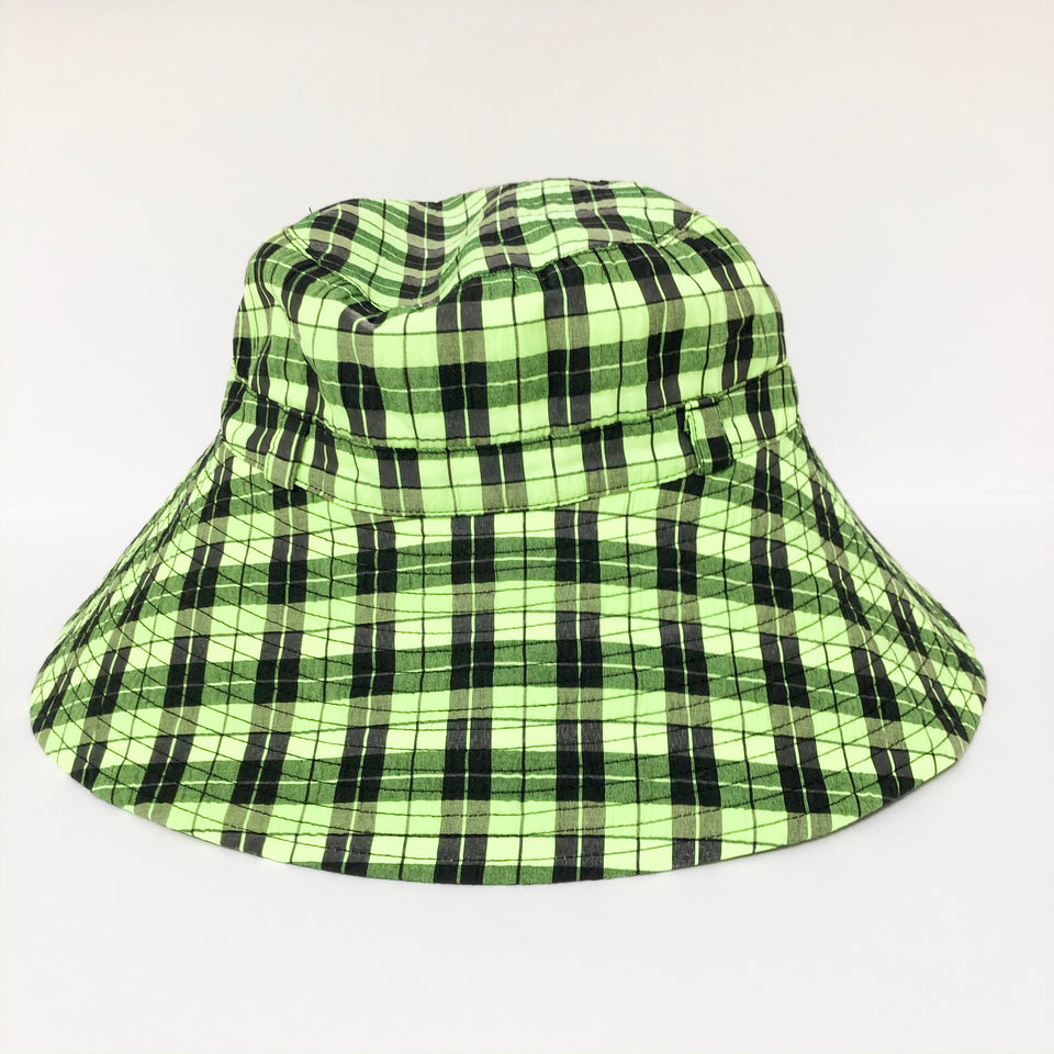 Checked Seersucker Bucket Hat