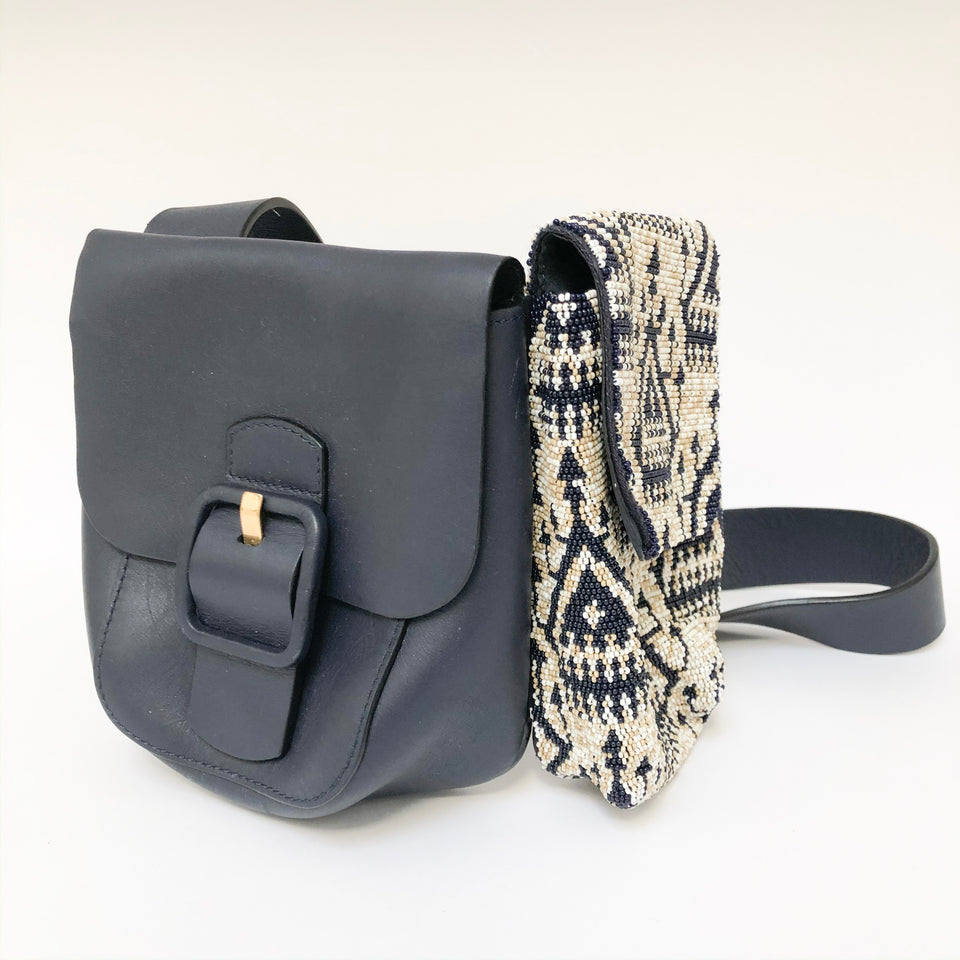 Sawyer Embellished Double-Pocket Shoulder Bag