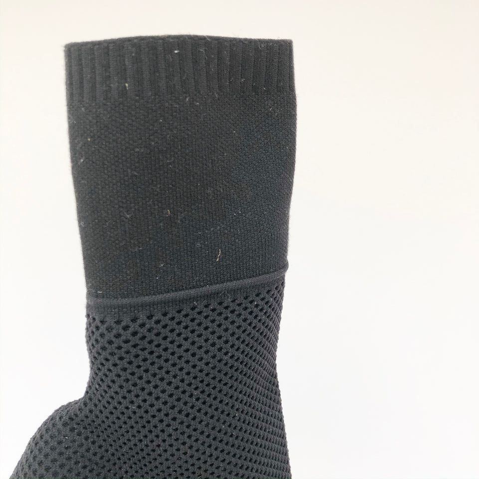 Stretch-Knit Sock Boots