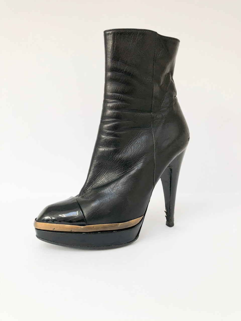 Leather Platform Boots