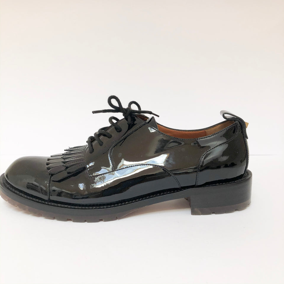 Patent-Leather Brogues