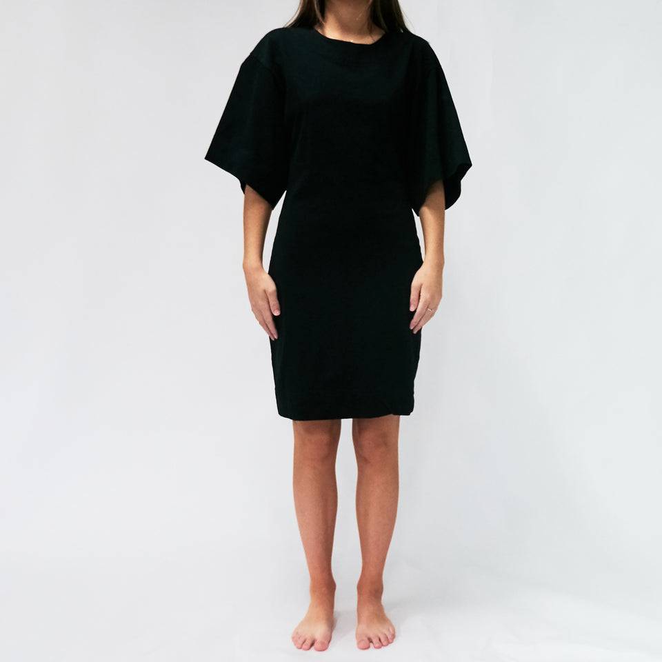 Double Jersey Batwing Short Sleeve Dress