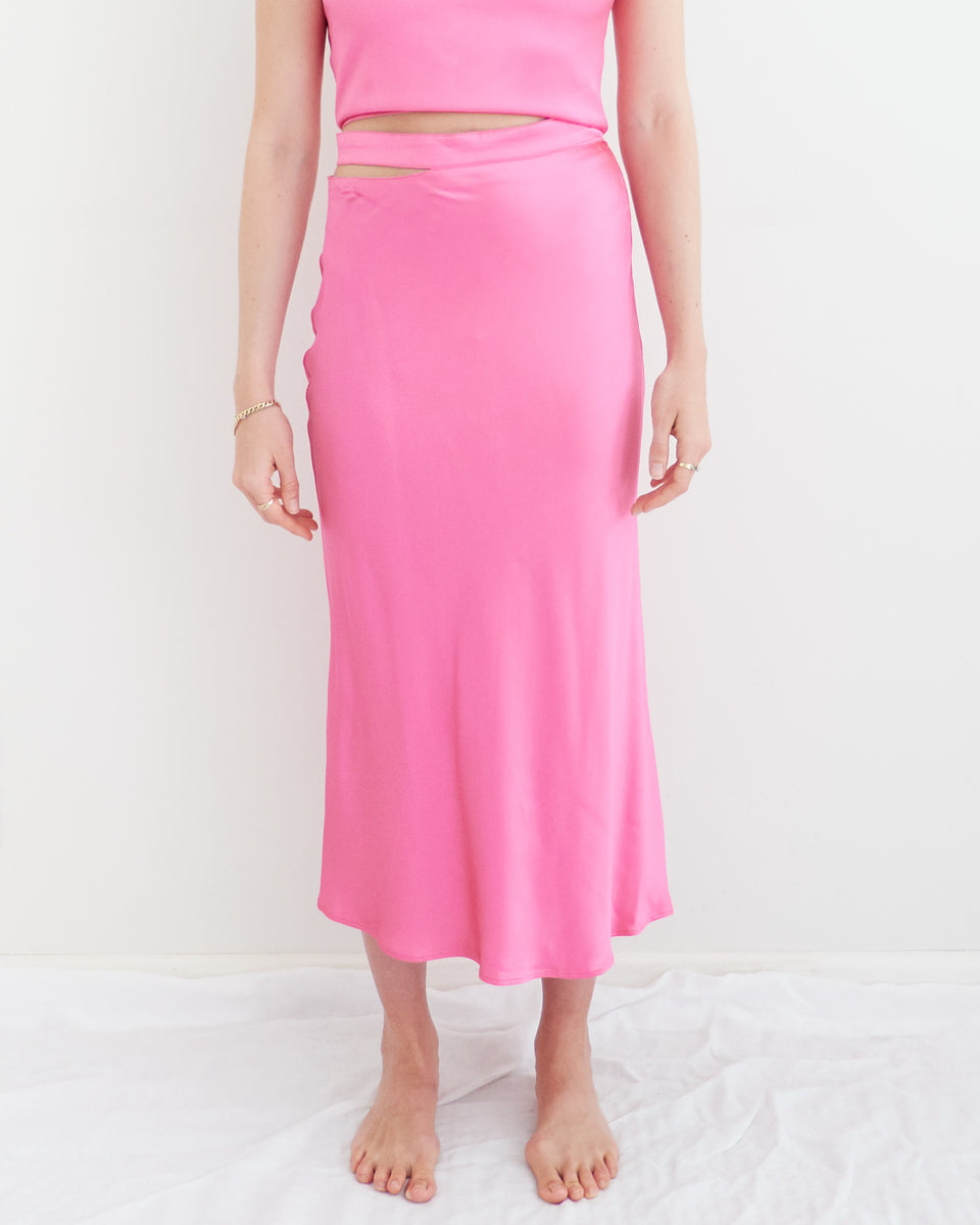 Livarno Satin Bias Midi Skirt