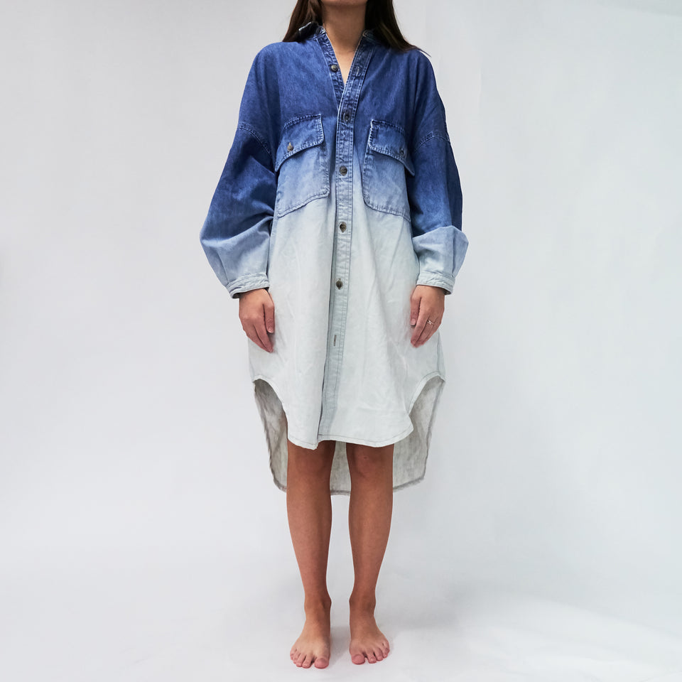 Denim Oversized Shirt Dress