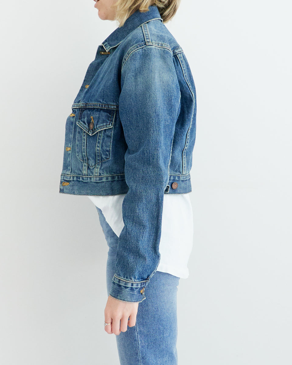 Cropped Oversized Denim Jacket