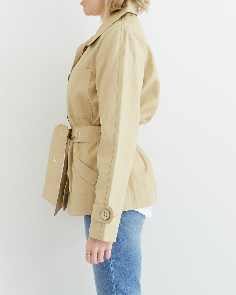 Camel Shirt Jacket