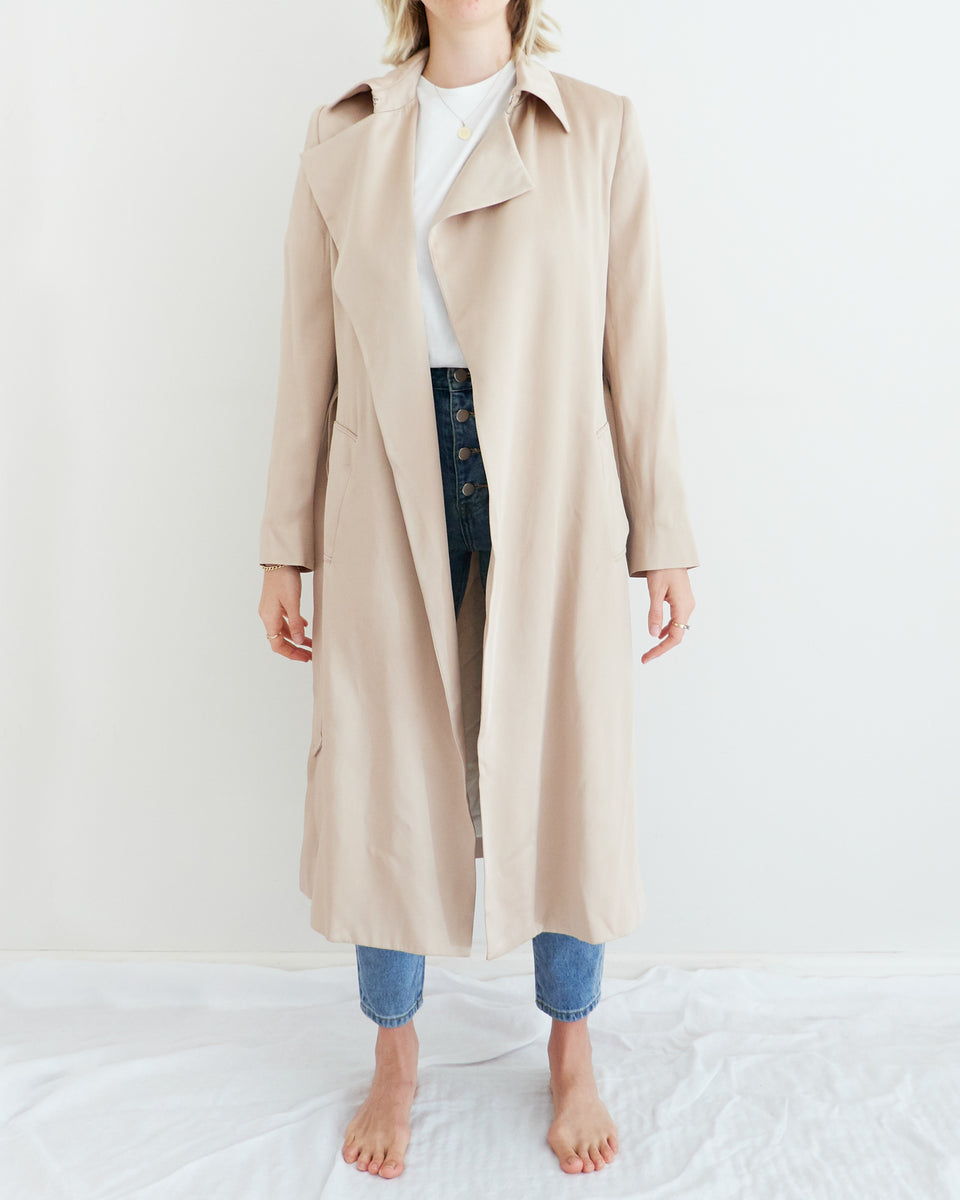 Darwin Satin Trench Coat