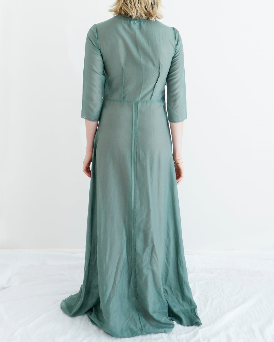 Andrea 3/4 Sleeve Long Dress