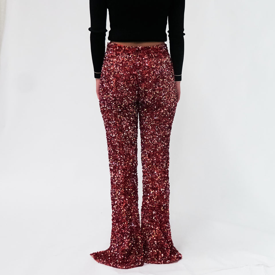 Sequin Flared Pant