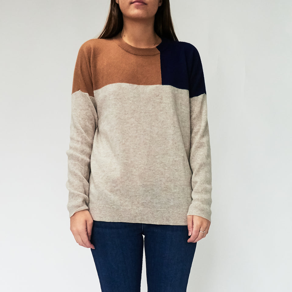 Wool Block Colour Jumper
