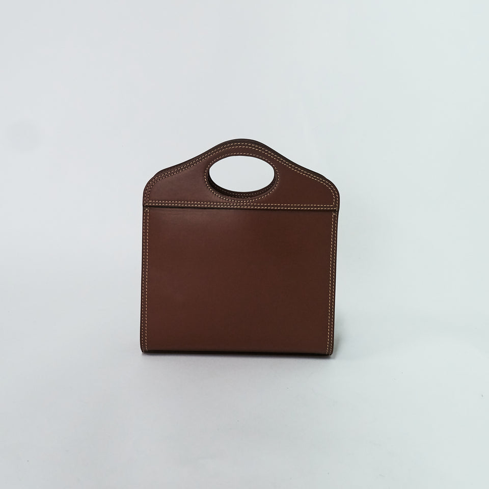 Mini Topstitched Leather Pocket Bag