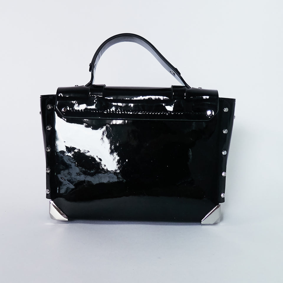 Manhattan Medium Patent Leather Satchel
