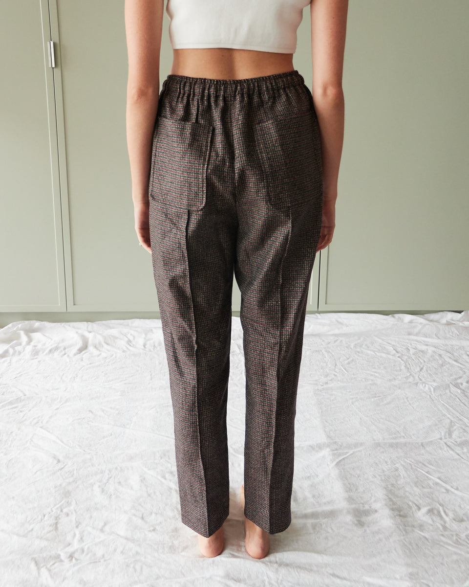 Microcheck Trousers