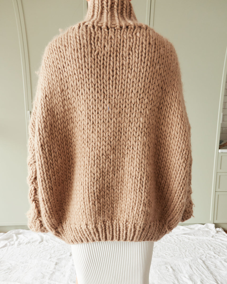 Oversized Cable Knit Wool Jumper