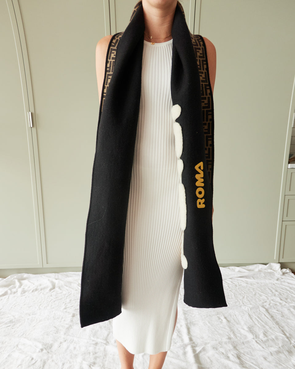 FENDI MANIA Wool And Silk Scarf