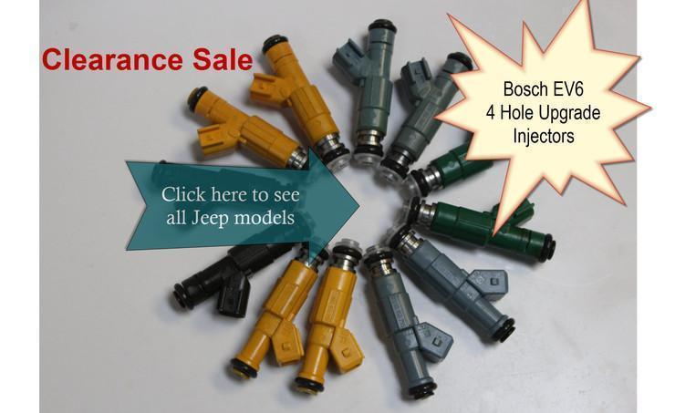 Jeep Bosch Upgrade 4 Hole Fuel Injectors