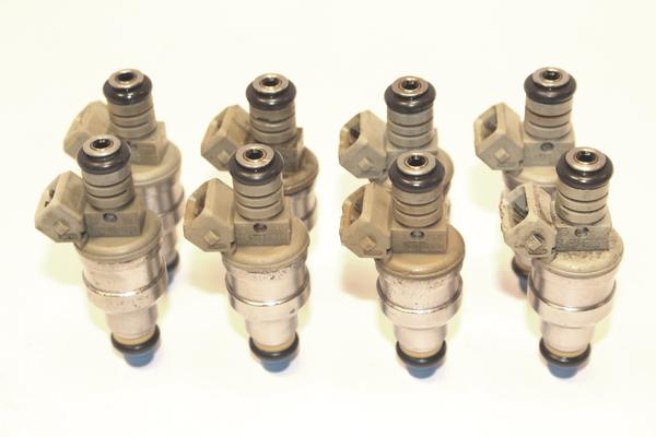 Set of 8 Genuine Bosch 4 Hole Upgrade 14LB Ford Mercury Lincoln 1986 - 1991 5.0L Fuel Injectors