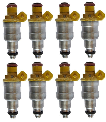 Set of 8 Rebuilt Siemens Upgrade 1993 - 1994 Jeep 5.2L Fuel Injectors