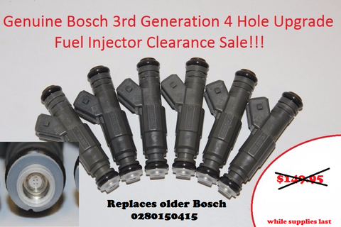 Bosch 3rd Generation 4 Hole Upgrade Fuel Injectors for BMW OEM 0280150415