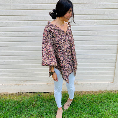 4 ways to style a floral wrap top from Passion Lilie