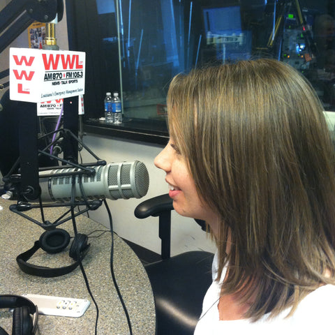 Local designer, Katie Schmidt on WWL radio talks about fashion week.