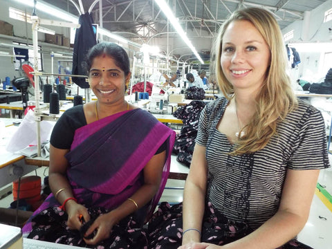 Passion Lilie is committed to working with fair trade artisans, such as this woman from India, who met with our founder and designer, Katie Schmidt, on one of her recent visits.