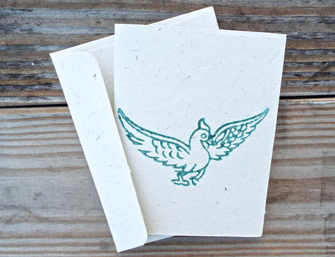 When you want to wish someone good luck, there's no better way than to give them this recycled card from Passion Lilie.