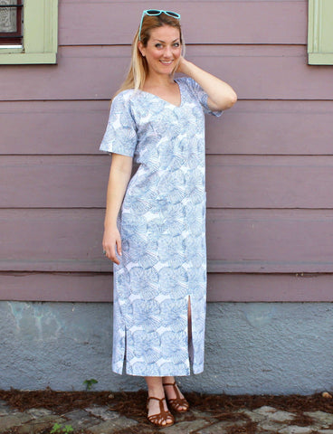 We recommend our Blue Impressions Organic Jersey Kaftan for your outdoor errands summer outfit.