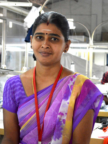 Meet Geetha, the first trainee in our new job training program, pictured here.