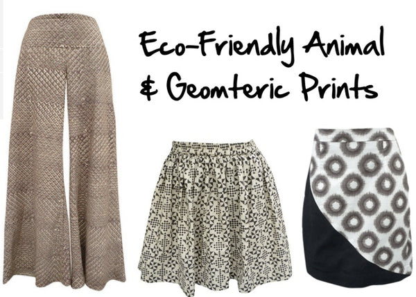 Eco friendly animal and geometric prints
