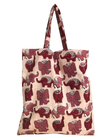 The fair trade Elephant Tote from Passion Lilie, pictured here, is as practical as it is fashionable with a red elephant design on sturdy canvas.