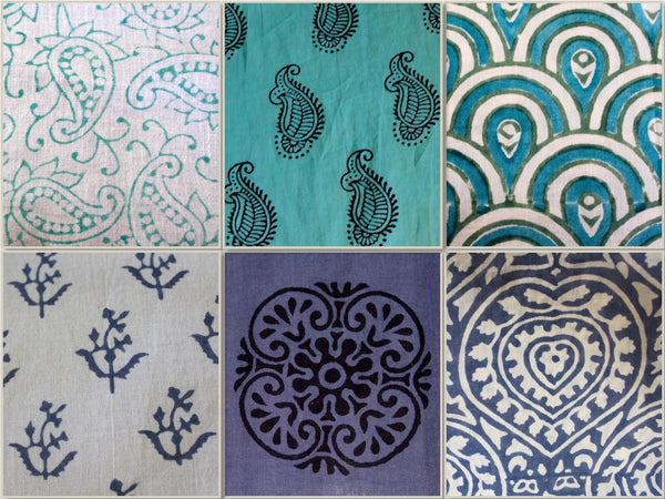 Passion Lilie hand block printed cotton fabrics.