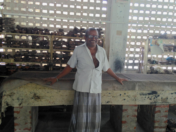 The owner of a fair trade hand block printing house in India.