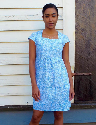 This Boho Blue Dress is just one example of affordable ethical clothing from Passion Lilie.