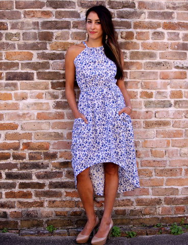 Fair trade and ethical cotton long dress.