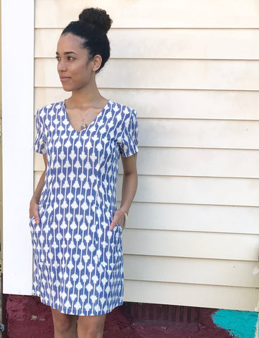 When you purchase this gorgeous Skylar Shift Dress from Passion Lilie, you help provide a secure job with fair wages and a positive working environment to artisans in India.