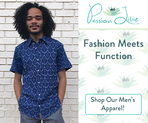 This comfortable, stylish, blue button-down for men is just one example of ethical fashion from Passion Lilie.
