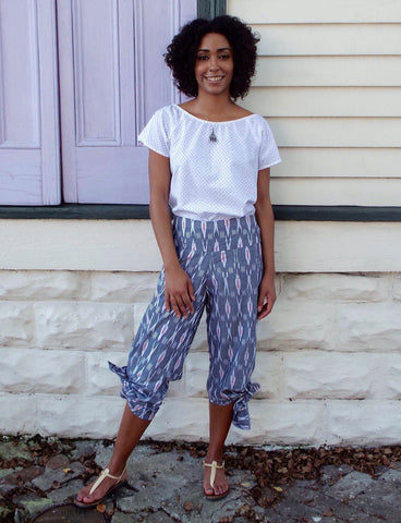 Flowy and fashionable, these Spinnaker Grey Pants from Passion Lilie are a perfect way to make a splash with your fall college fashion.