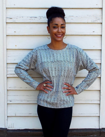 Looking for fall college fashion? This cute and cozy Chevron Sweater Organic Fleece from Passion Lilie has you covered.