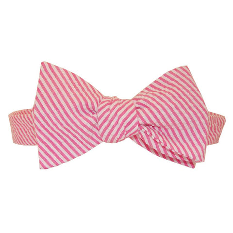 This Seersucker Bow Tie from NOLA Couture features pink and white stripes for a Valentine's Day clothing gift your Southern gentleman is sure to love.