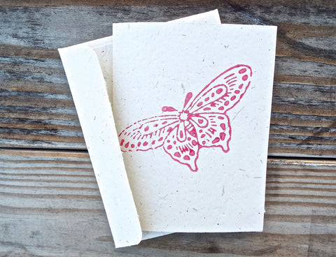 Passion Lilie's Butterfly Greeting Card, pictured here, is one of our favorite low-cost teacher gift ideas.