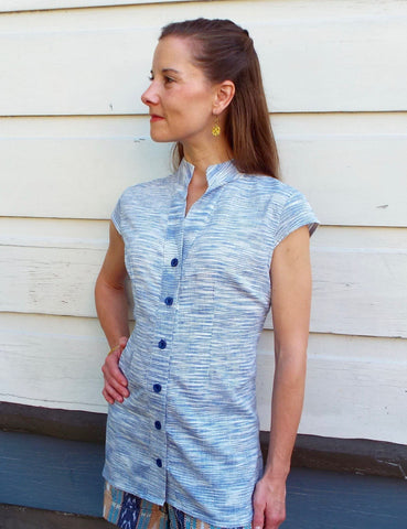 Passion Lilie offers ethical fashion, such as this Clear Skies Button Shirt, that can easily be turned into a range of stylish work outfits.