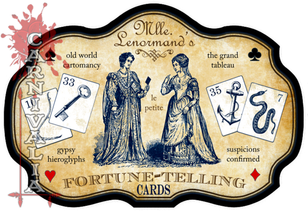 Mlle. Lenormand's le petit Fortune-Telling Cards Sign