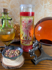 Fireworks of Love Candle