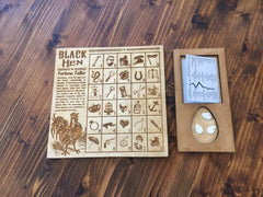 Black Hen Fortune Teller Throwing Board